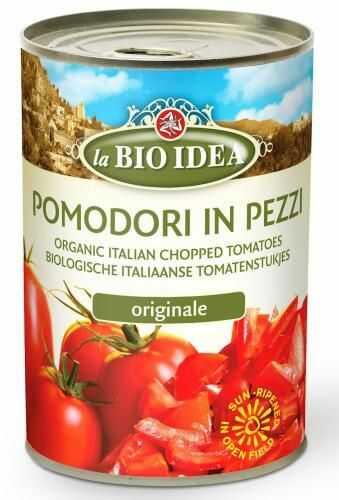Pomidory krojone bez skóry (puszka) 400g La Bio Idea