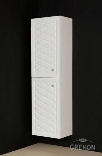 Regał łazienkowy w stylu Glamour biały mat 45x155cm, Gante Cobra