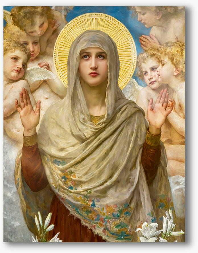 Matka Boża, nowoczesny obraz religijny plexi