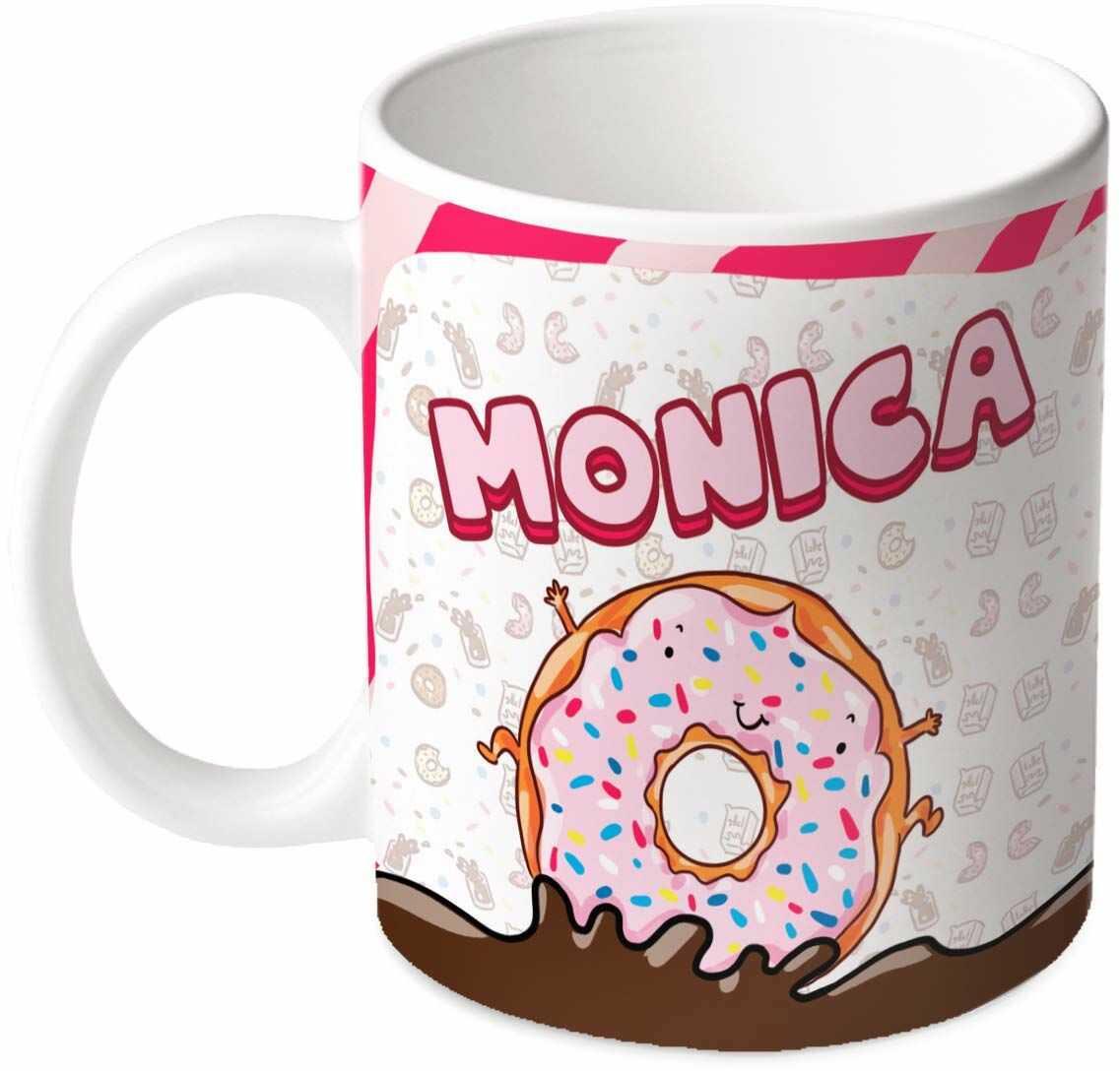 M.M. Group Filiżanka z imieniem i znaczeniem Monica, 30 ml, ceramika, wielokolorowa