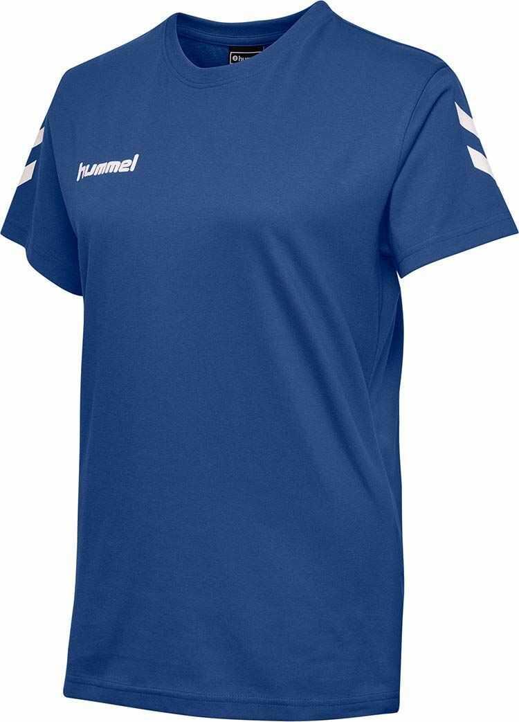 Hummel Damskie T-shirty z bawełny Hmlgo niebieski niebieski (True Blue) L