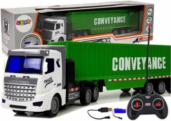 Ciężarówka Dostawcza Zdalnie Sterowana 27 Mhz 1:48 Zielona