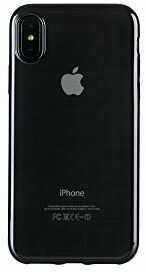 Tucano Elektro Flex, przezroczyste silikonowe etui z kolorowym brzegiem do iPhone XS Max, rama czarna