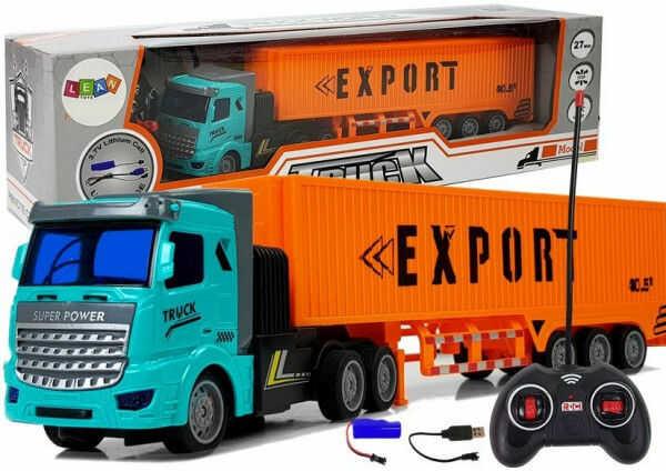 Ciężarówka Dostawcza Zdalnie Sterowana 27 Mhz 1:48 Pomarańczowa
