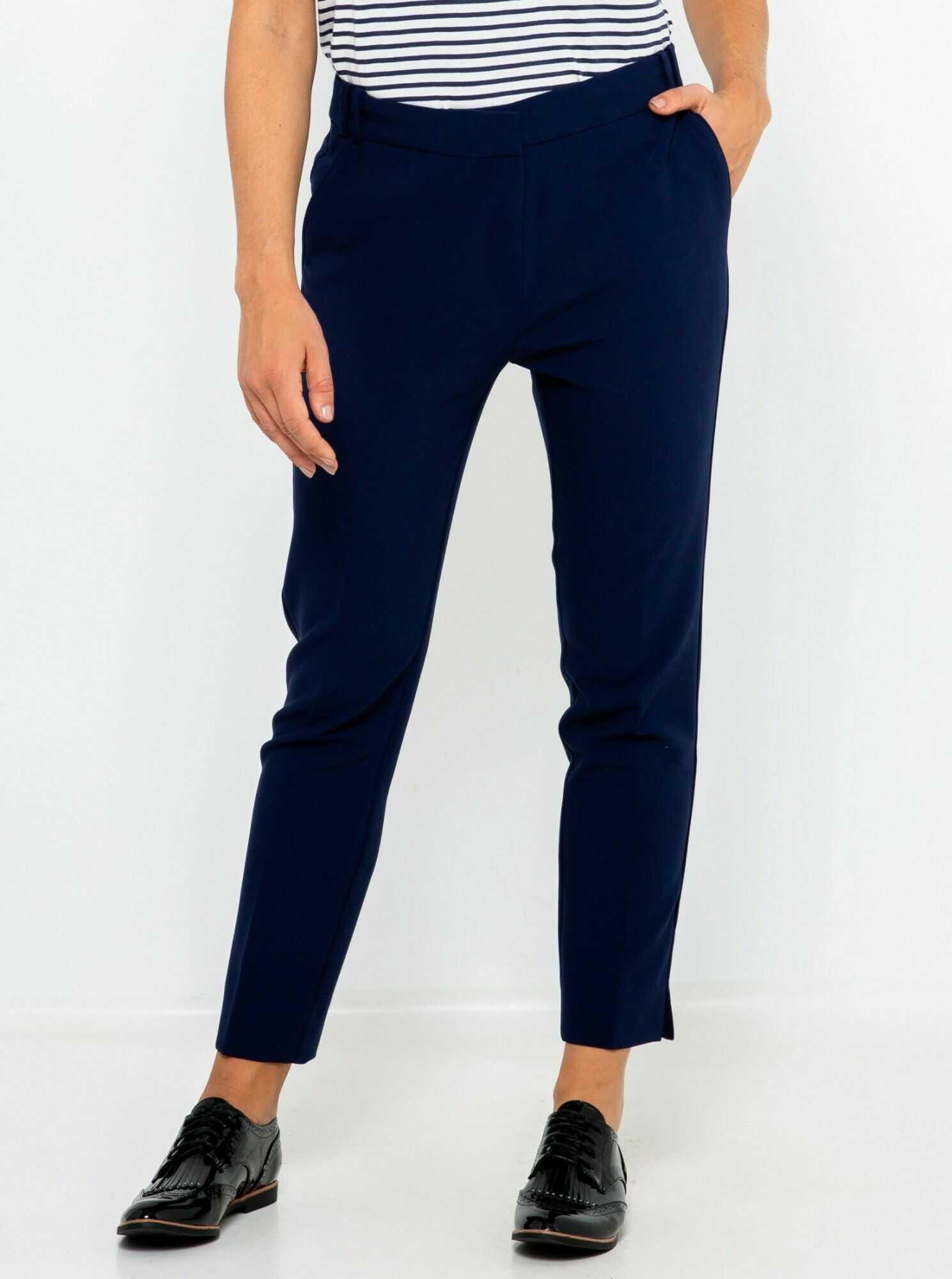 CAMAIEU niebieski skrócone chino spodnie