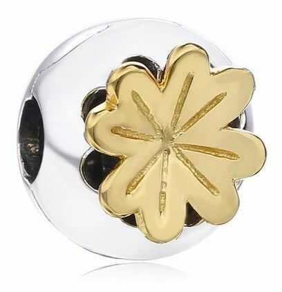 Rodowany pozłacany srebrny charms do pandora otwierana kulka ball kwiatek flower srebro 925 NEW207