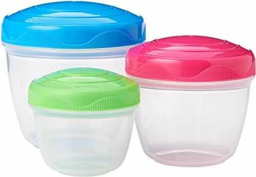 Sistema Pojemniki do przechowywania Snack''n''Nest zestaw 3 sztuk, tworzywo sztuczne, wielokolorowe, 150 ml, 305 ml, 520 ml