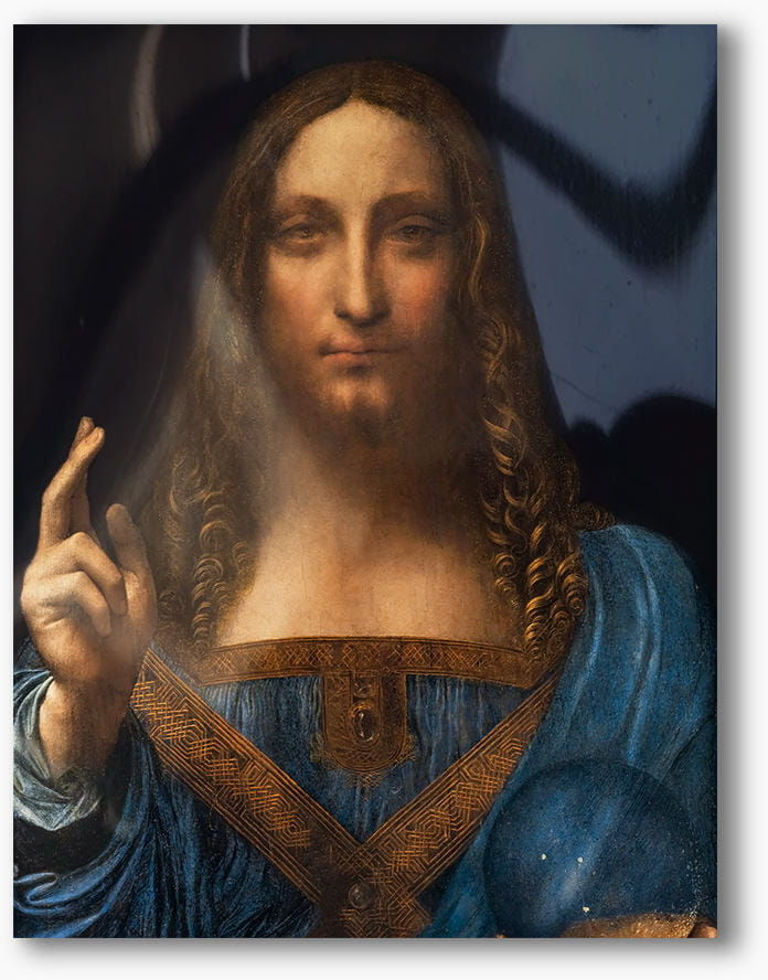 Chrystus Salvator Mundi, Leonardo Da Vinci, nowoczesny obraz religijny plexi