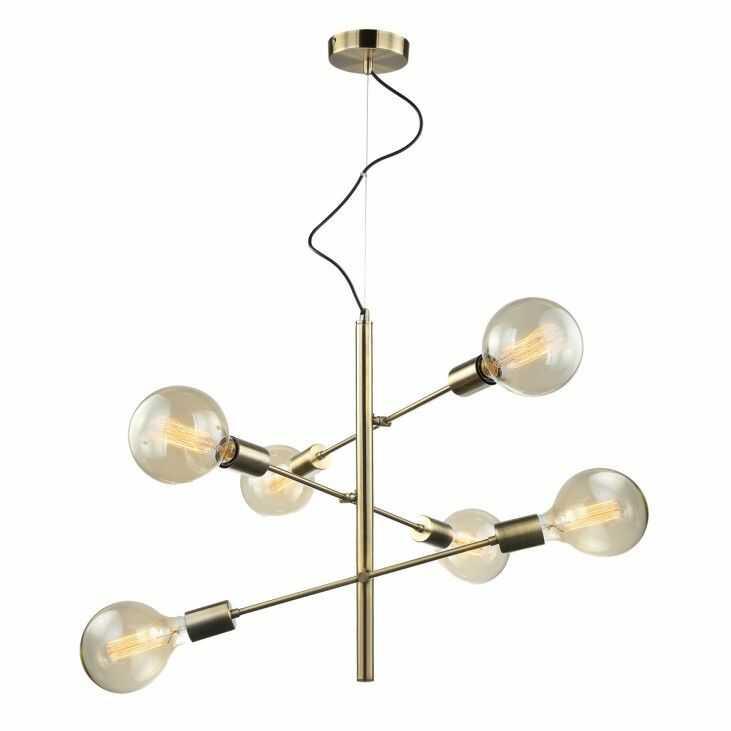 Lampa wisząca Madalyn MDM3582/6 AB Italux nowoczesna brązowa oprawa wisząca
