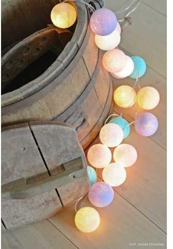 Kolorowe kulki LED kompozycja - Pastel by Pipilota