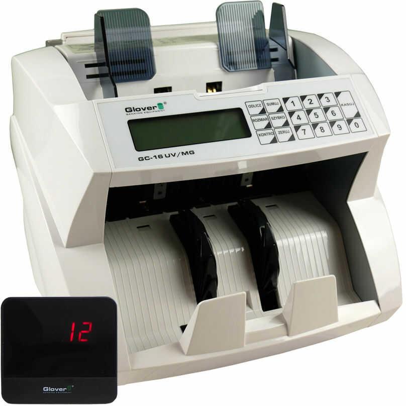 Liczarka do banknotów Glover GC-16 UV MG + wyś. - Zadzwoń po RABAT % - Autoryzowana dystrybucja