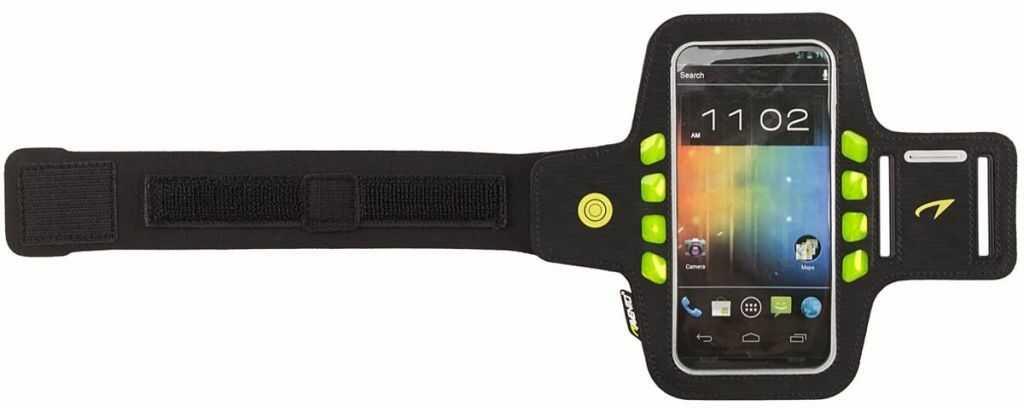 Opaska do biegania na ramię smartfon świecąca LED Avento