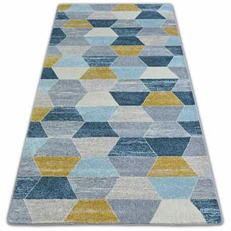 Dywan NORDIC HEKSAGON szary/niebieski G4596 80x150 cm