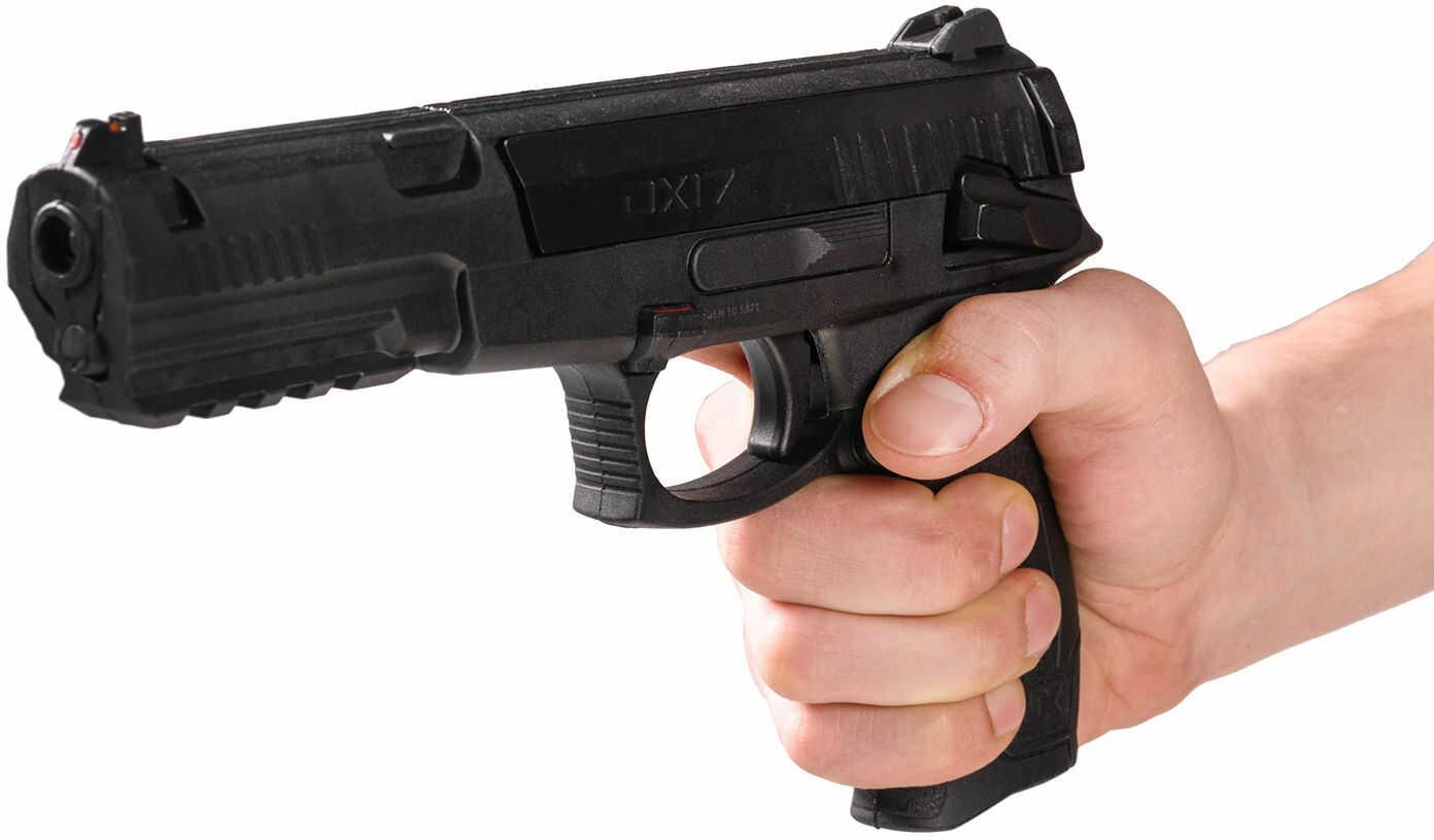 Pistolet Wiatrówka Umarex DX17 na Śruty Diabolo 4,5mm i Kulki BB/BBs 4,46mm (napęd sprężynowy).