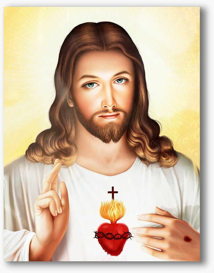 Serce Jezusa, nowoczesny obraz religijny plexi