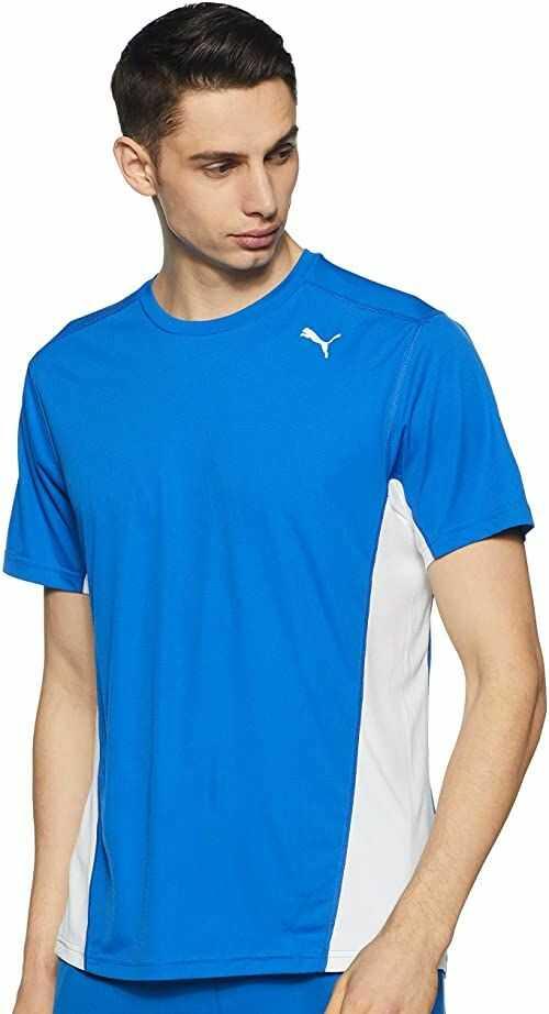 PUMA męska koszulka Cross the Line, Team Power niebieski biały/biały, XL