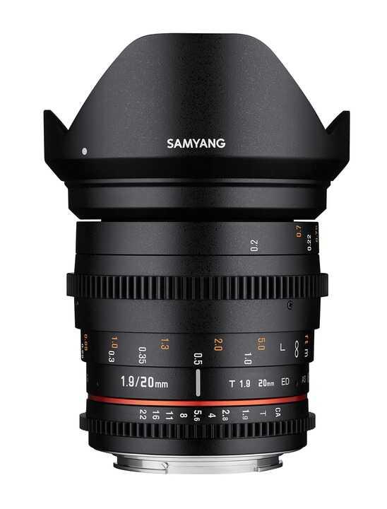 Samyang 20mm T1.9 ED AS UMC - obiektyw z mocowaniem do Canon EF Samyang 20mm T1.9 ED AS UMC / Canon