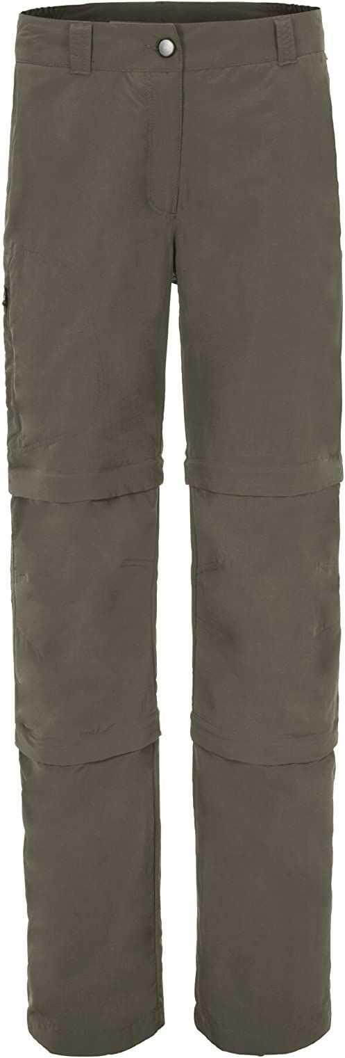 Maier Sports Damskie spodnie z odpinanymi nogawkami brązowy drewno tekowe 21