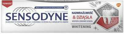 Sensodyne Whitening Nadwrażliwość & Dziąsła pasta do zębów 75 ml