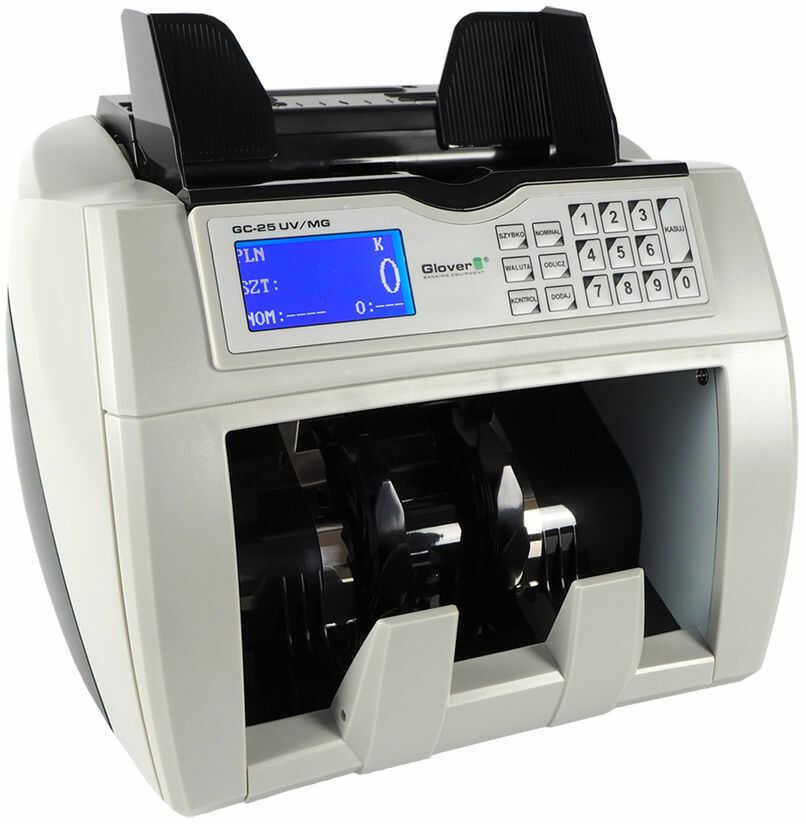 Liczarka do banknotów Glover GC-25 UV MG LCD + SUPER RABAT % z kodem: GC25 - Autoryzowana dystrybucja