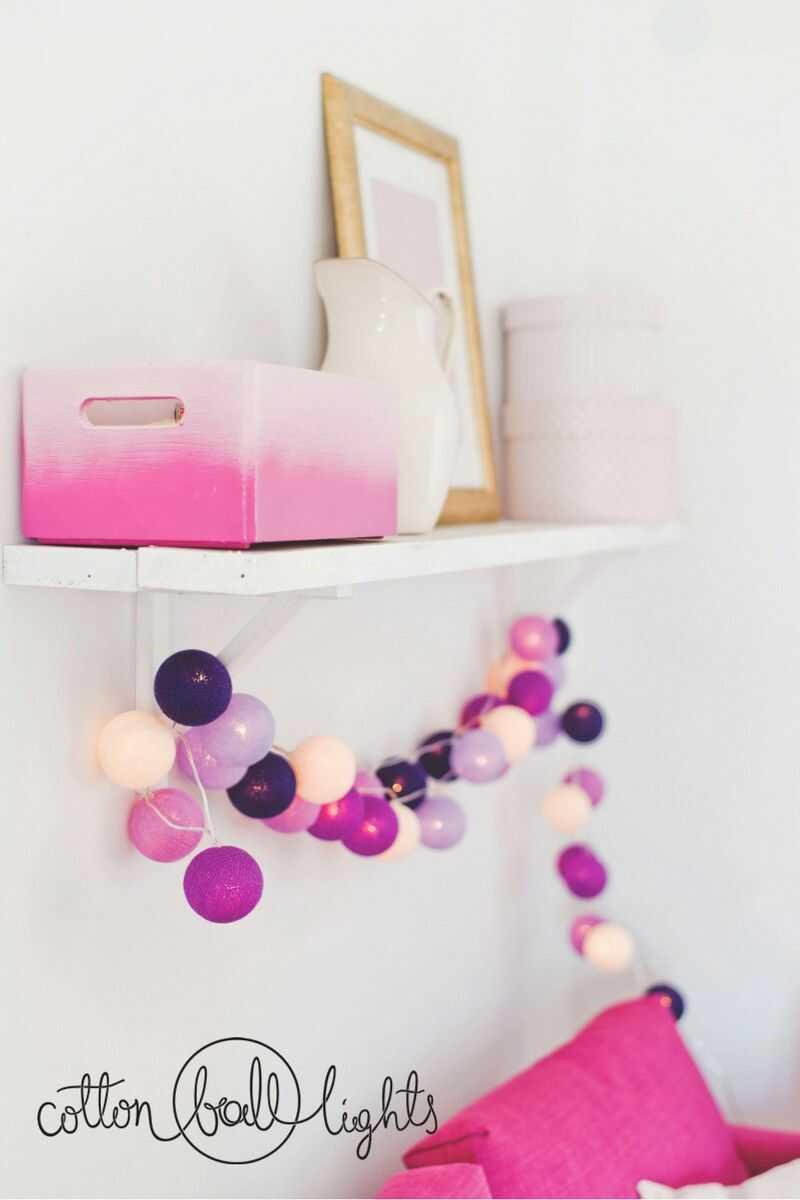 Kolorowe kulki LED kompozycja - Berry Ice Cream