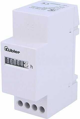 Licznik elektromechaniczny czasu pracy KUBLER Zakres:99999,99h