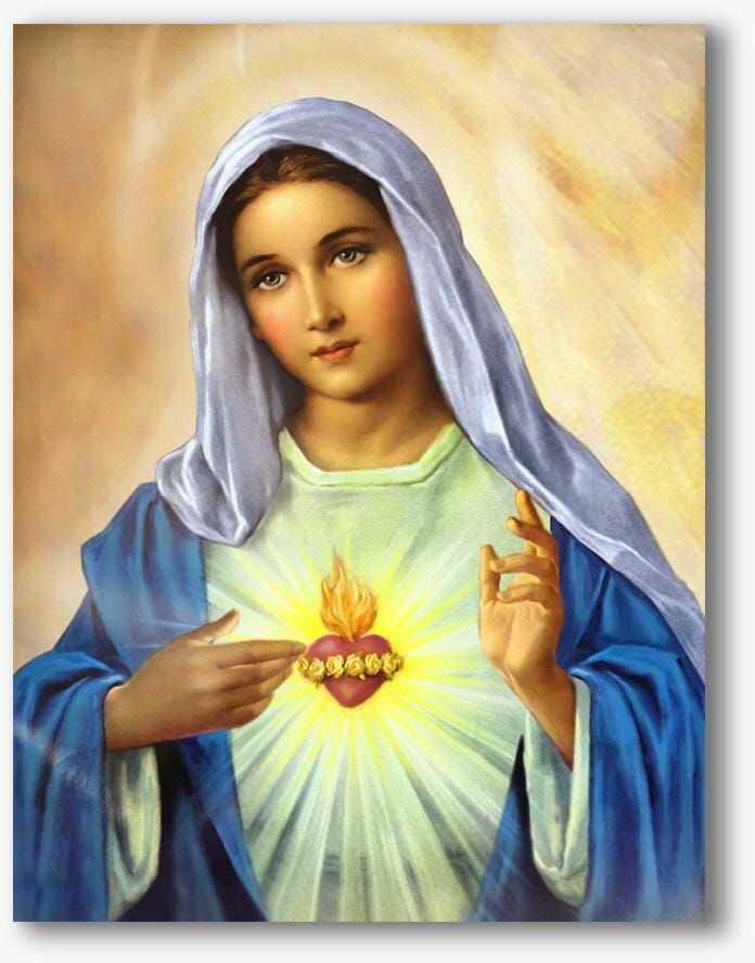 Serce Maryi, nowoczesny obraz religijny plexi