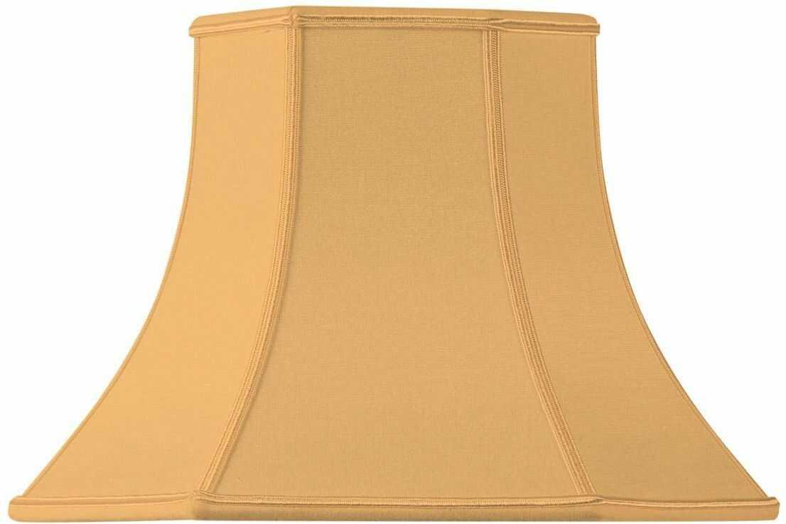 Klosz lampy w kształcie pagody, ścięty, 30 x 15 x 22 cm, żółty