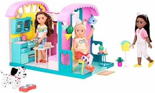 Glitter Girls GG57184C1Z zestaw do zabawy z meblami i kuchnią domową, piekarnikiem i tarasem, 35,6 cm, ubranka dla lalek i akcesoria dla dzieci w wieku od 3 lat.