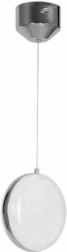 Milagro LIRA ML5495 lampa wisząca metalowa srebrna okrągła regulacja wysokości 10W LED 16cm