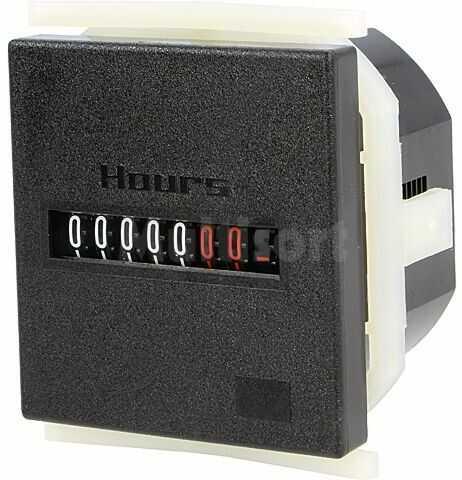 Licznik elektromechaniczny czasu pracy KUBLER Zakres:99999,99h IP52