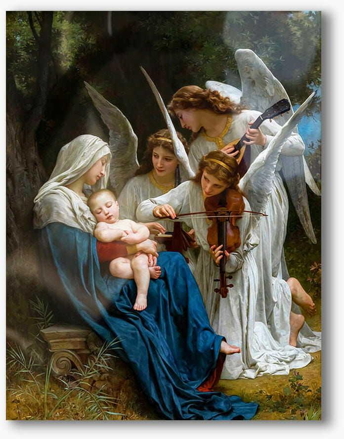 Śpiew aniołów, nowoczesny obraz religijny plexi