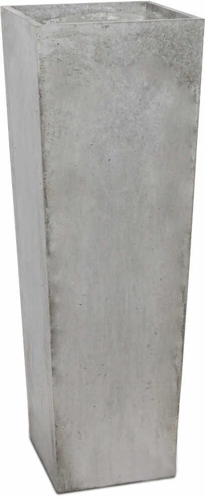 Donica betonowa CONE L 32x32x93 szary naturalny