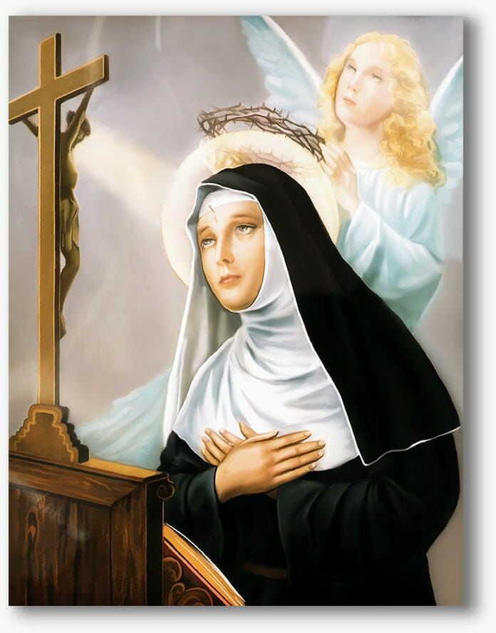 Święta Rita, nowoczesny obraz religijny plexi