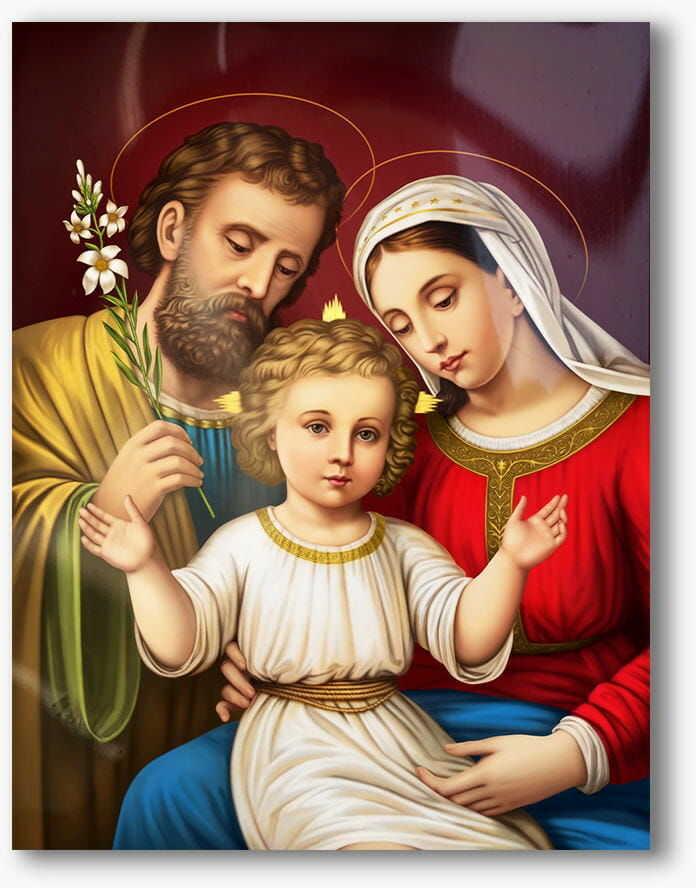 Święta Rodzina, nowoczesny obraz religijny plexi