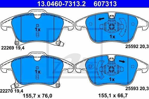 klocki hamulcowe Mondeo Mk5  S-Max  Galaxy - kpl. przód - ATE