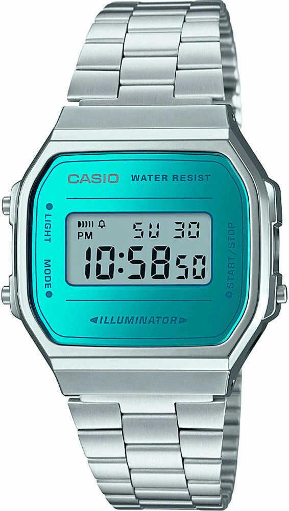 Zegarek Casio A168WEM-2EF MIRROR FACE - CENA DO NEGOCJACJI - DOSTAWA DHL GRATIS, KUPUJ BEZ RYZYKA - 100 dni na zwrot, możliwość wygrawerowania dowolnego tekstu.