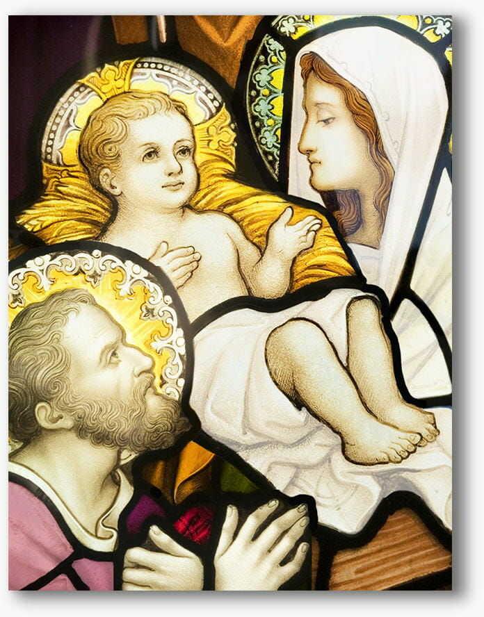 Święta Rodzina witraż, nowoczesny obraz religijny plexi