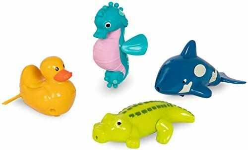 Battat BT2641Z ''Wind-Up Friends''  koń morski, Croc, kaczka, wieloryb