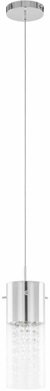 Lampa wisząca chromowana Marqu MDM1636/1A oprawa wisząca szklana Italux