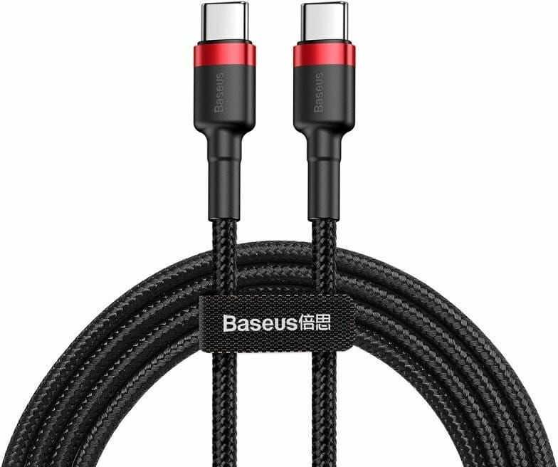 Kabel USB-C PD Baseus Cafule PD 2.0 QC 3.0 60W 2m (czarno-czerwony)
