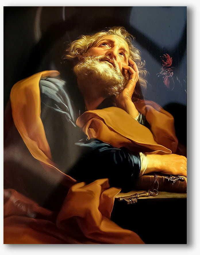 Święty Piotr, nowoczesny obraz religijny plexi