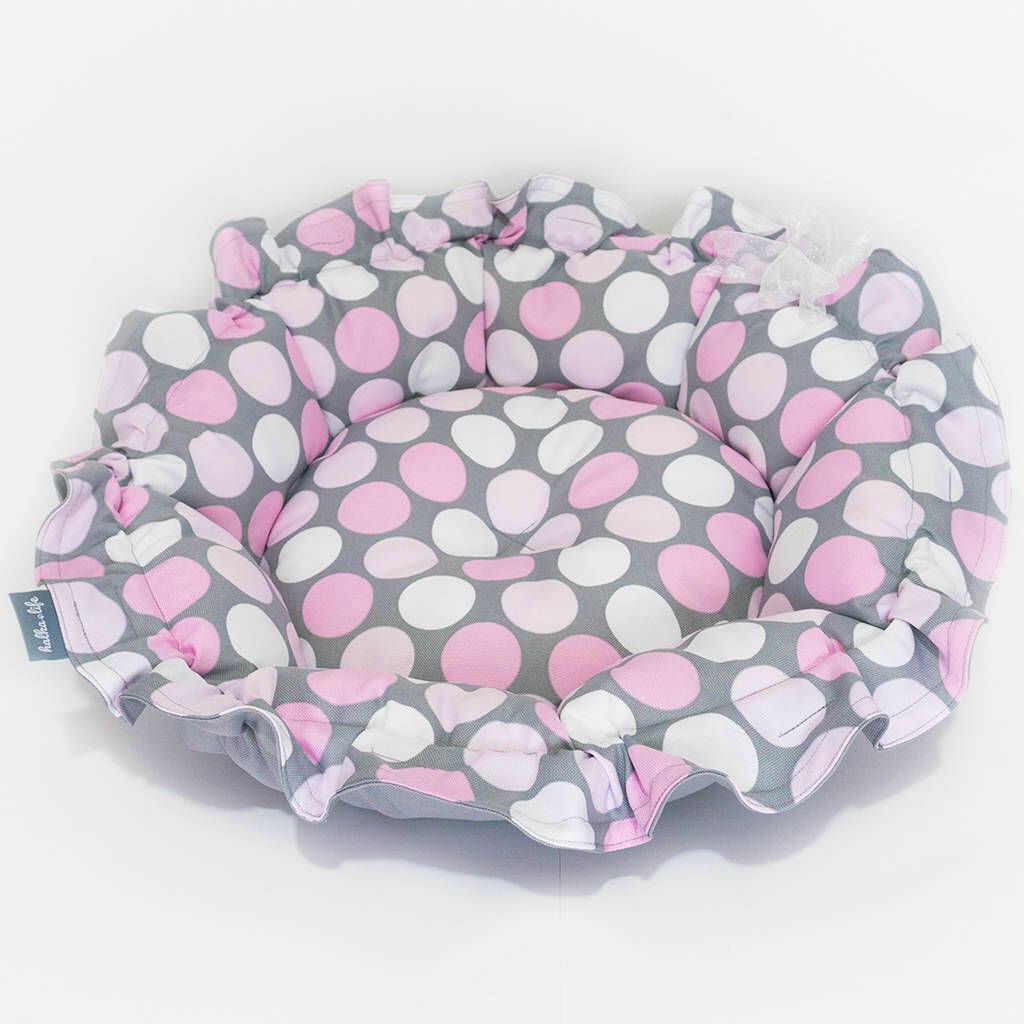 Legowisko ONDI M  Różowe Grochy