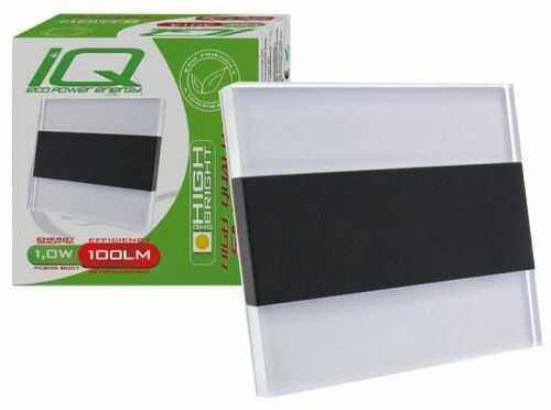 Oprawa schodowa 1W 230V biała zimna Arima - czarna