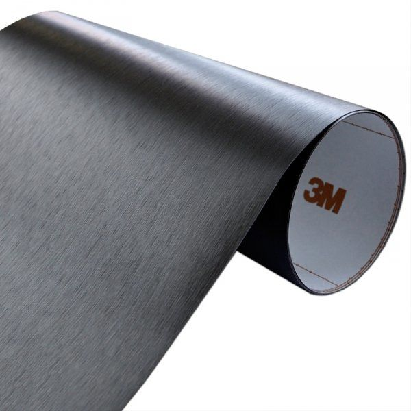 Folia Szczotkowane Aluminium Czarne 3M ME1175 122x10cm