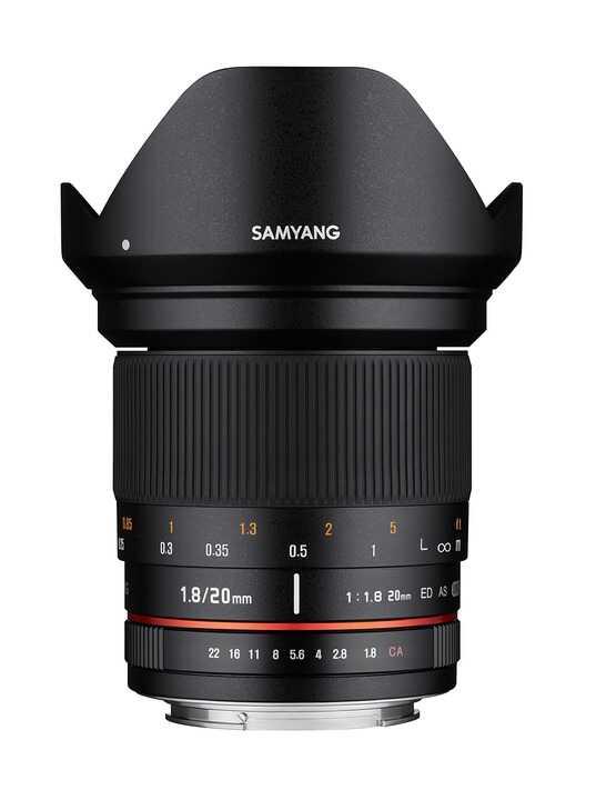 Samyang 20mm F1.8 ED AS UMC - obiektyw z mocowaniem do Canon EF Samyang 20mm F1.8 ED AS UMC / Canon