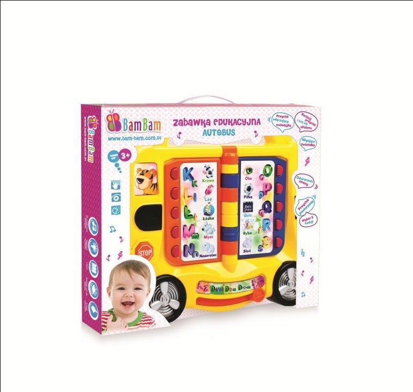 Bambam Zabawka edukacyjna autobus