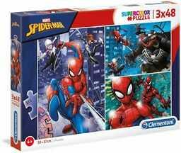 Spider Man Puzzle 3X48 Supercolor
