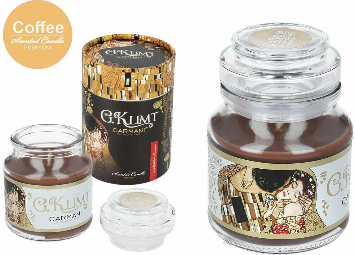 Carmani, świeczka zapachowa american mały - G. Klimt-Coffee