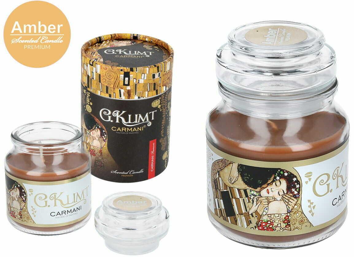Carmani, świeczka zapachowa american mały - G. Klimt-Amber